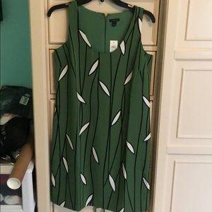 ANN TAYLOR GREEN DRESS